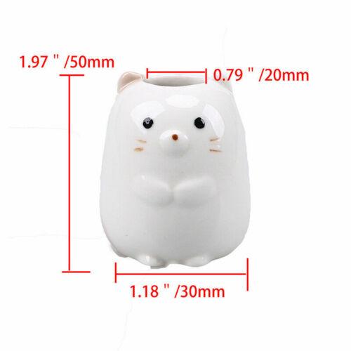 Cute Animal Pattern Cotton Swab Toothpick Box Storage Holder Kitchen Bathroom US