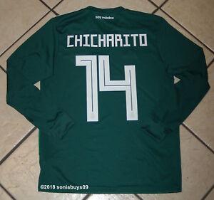 6c5f0b38777 Adidas Men s CHICHARITO Mexico Home Long Sleeve Soccer Jersey ...