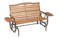 Outdoor Swings For Adults Wooden Garden Bench Glider Seat Wood Patio Yard Porch