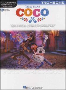 à Condition De Coco Instrumental Play-along Trombone Partitions Livre Audio/disney Pixar-afficher Le Titre D'origine Retarder La SéNilité