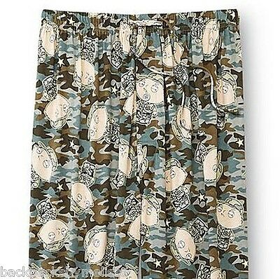 "Family Guy STEWIE Lounge Pajamas Pants NeW Men's Extra Large XL 40""-42"" Camo Pjs"