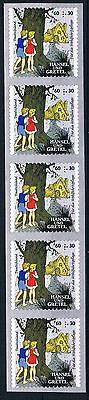 Herzhaft 3061 Ii ** , Brd 2014, Skl. Aus Mb, Hänsel Und Gretel M.nr.50, 5er-streifen
