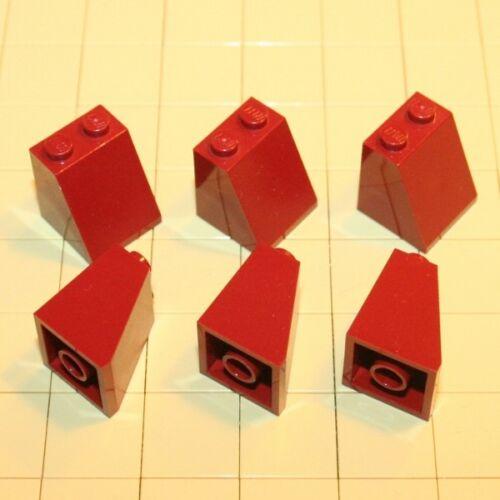 Lego® System  6 Schrägsteine  2 x 2 x 2  New Dark Red  3678