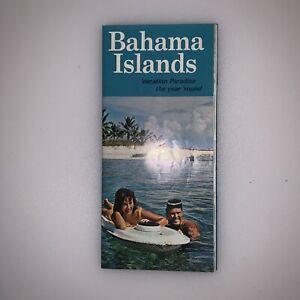 Bahama Islands Travel Brochure Map Vintage 1966 Nassau Grand Bahama Abaco Cays