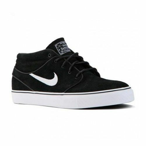 Nike NK ZM ZOOM STEFAN JANOSKI MD Black White Suede Discounted Price reduction Mens Shoes Seasonal clearance sale