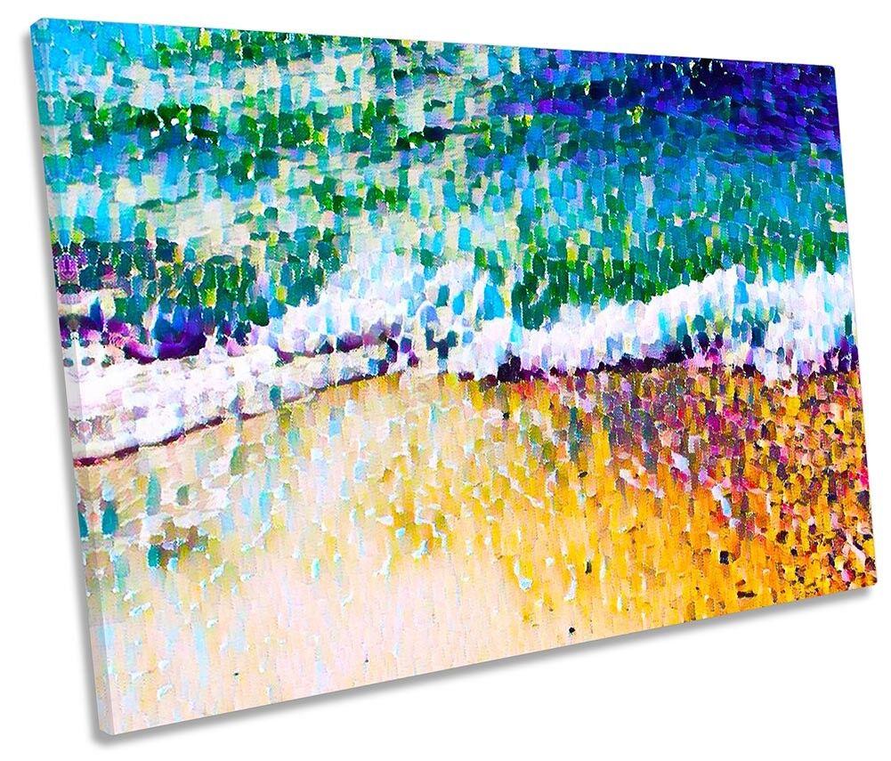 Beach Mosaic Surf Bathroom SINGLE CANVAS WALL ARTWORK Print Art