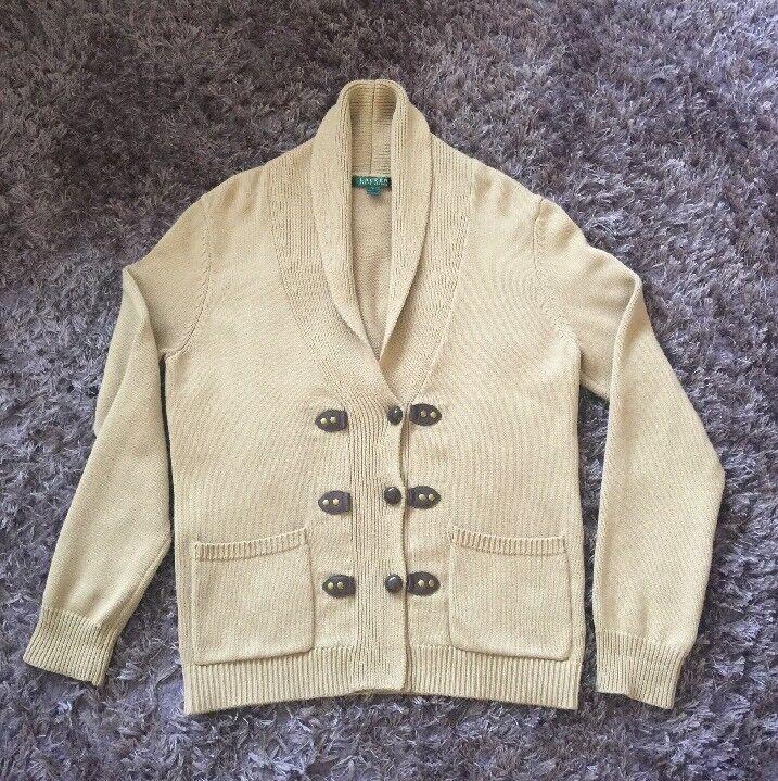 Ralph Lauren 100% Cotton Shawl Cardigan Größe L : BNWT - 100% Authentic