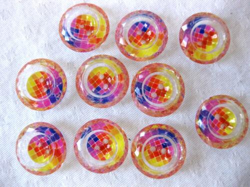 10 Knöpfe verschiedene Muster,ca.22 mm,Muster wählbar  K83