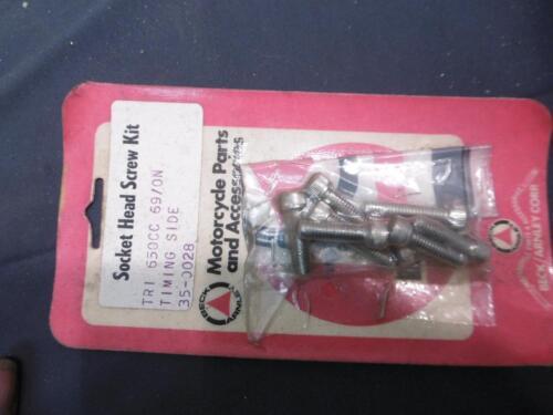 Beck Arnley Allen Timing Side Screw Kit Triumph 650cc Twins 1969 On T120R  LU134
