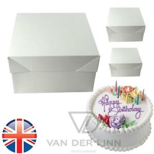 Details About Uk Seller Premium White Cake Boxes Wedding Birthday All Sizes 8 10 12 Inch Box