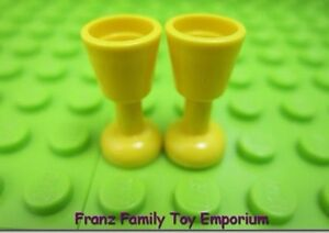 LEGO Lot of 2 Yellow Minifigure Castle Cup Goblet Pieces