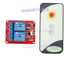 12V 2 channel 2CH IR LED Relay Driver Module Infrared Remote Control + Receiver