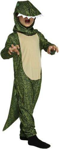 Green Godzilla Childs kids Dinosaur T-Rex Fancy Dress Book  Costume