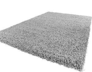 moderne-qualite-epais-Tapis-Shaggy-souple-argente-et-7-tailles-Tapis-rond-tapis