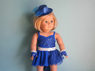 BLUE CABLE SWEATER DRESS HAT Last One /& SNOWFLAKE LEGGINGS fits American Girl