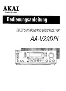 akai aa v29dpl receiver owners instruction manual ebay rh ebay co uk akai microwave instruction manual akai 4000ds instruction manual