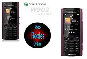 Sony-Ericsson-W902-Wine-Red-Ohne-Simlock-3G-Walkman-5MP-VideoCall-Radio-GUT-OVP
