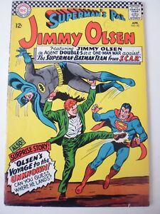 JIMMY OLSEN (SUPERMAN'S PAL) ISSUE # 92. APRIL 1966.  DC  SILVERAGE COMIC