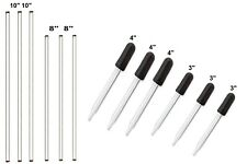 Glass Stirring Rods Glass Droppers For Lab Kitchen Science Education 12pack