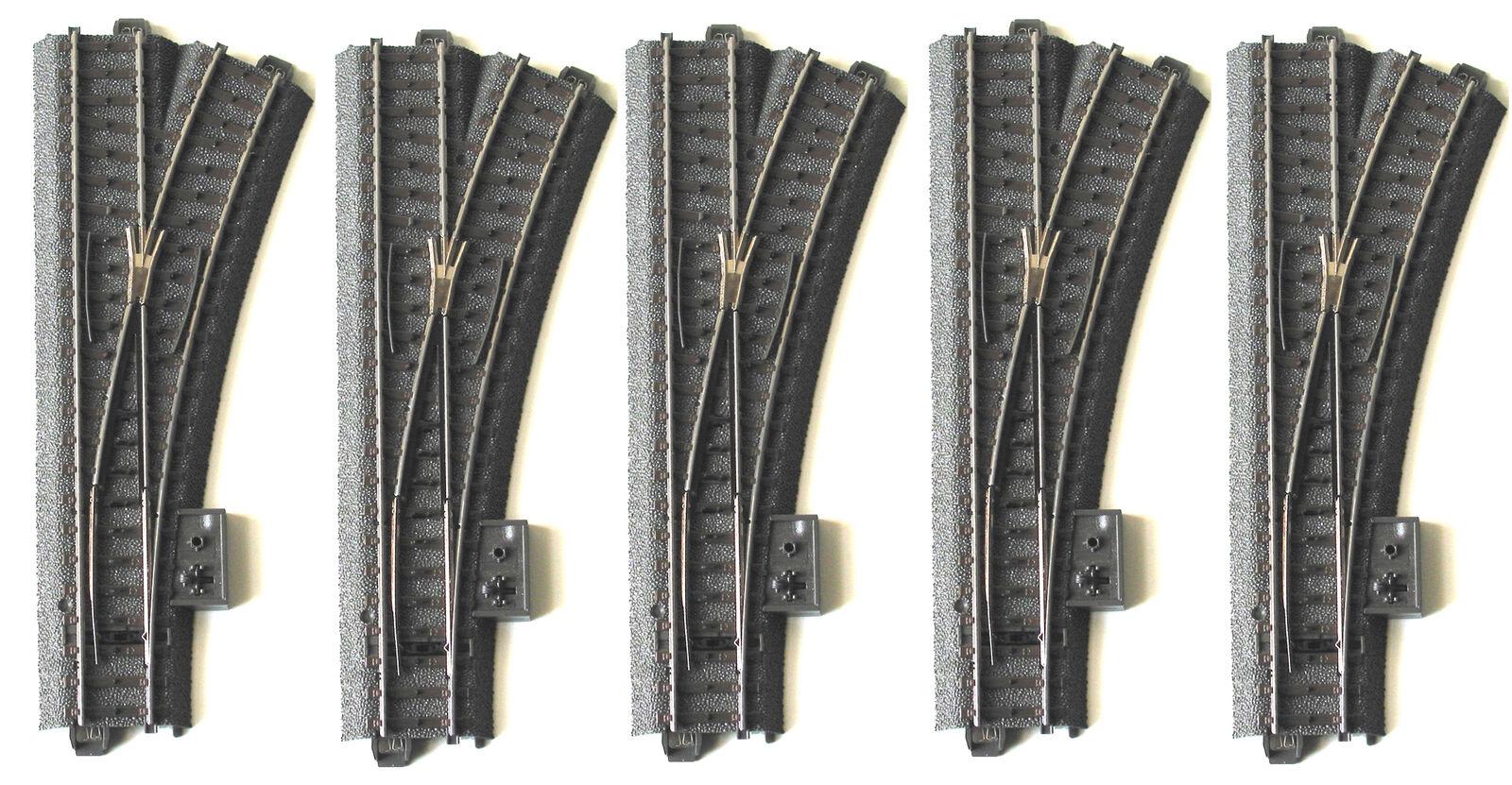 5 Märklin H0 24612 C-Gleis-Weichen rechts    | Realistisch  0078e1