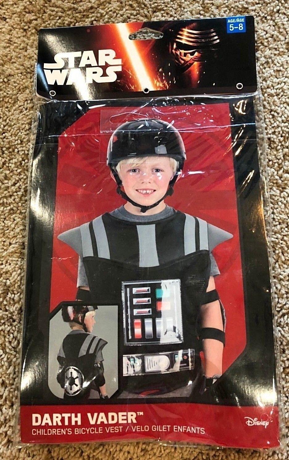 NEW Children/'s bicycle Vest Ages 5-8 Retails $12.99 Star Wars Darth Vader