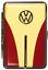 縮圖 6 - Cigarette Case 12 King Size / VW Trim / Metal/Rubber Band / 2seitig/4 Colours