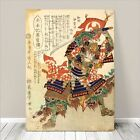 "Vintage Japanese SAMURAI Warrior Art CANVAS PRINT 16x12""~ Kuniyoshi Hero #211"
