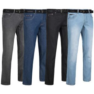 Pierre Cardin Herren Jeans Straight Fit Leg mit Gürtel Hose Jeanshose neu