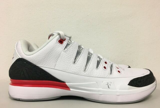 0e8847f41084fe Nike Zoom Vapor RF X AJ3 White Fire Red Silver Black 709998 106 Mens Size  11.5