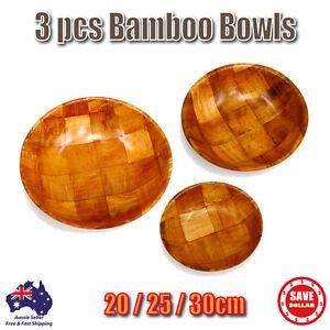 3-pcs-Natural-Wooden-Bamboo-Popcorn-Bowl-Dish-Serving-Trays