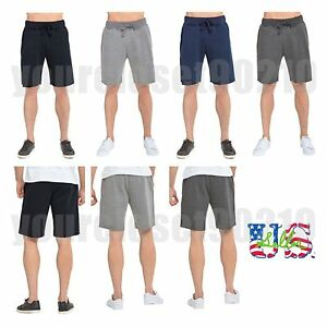 Mens-Jogger-Fleece-Shorts-Fashion-Casual-Sweats-pant-Sports-GYM-Workout-Hiking