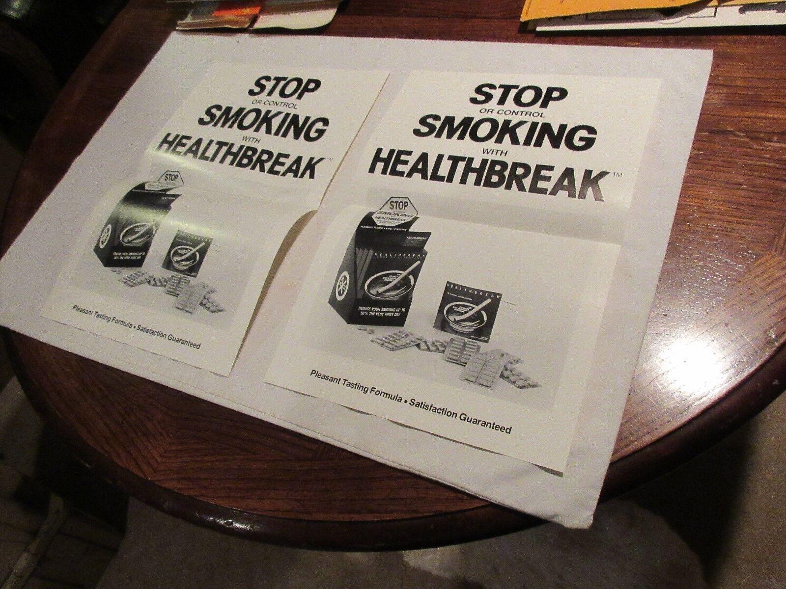 "Healthbreak , Stop or Control Smoking , Poster , 17"" X"