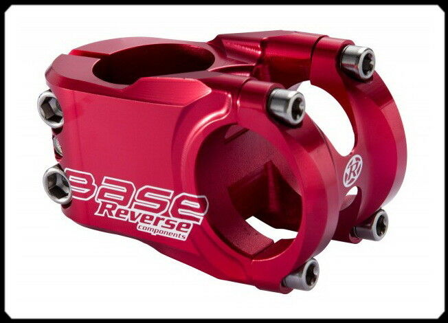 REVERSE Base 40mm Ø31,8mm, MTB  Downhill Freeride Vorbau, rot