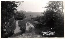 Blewbury. Rubble Pit Road showing Downs. Card # F.