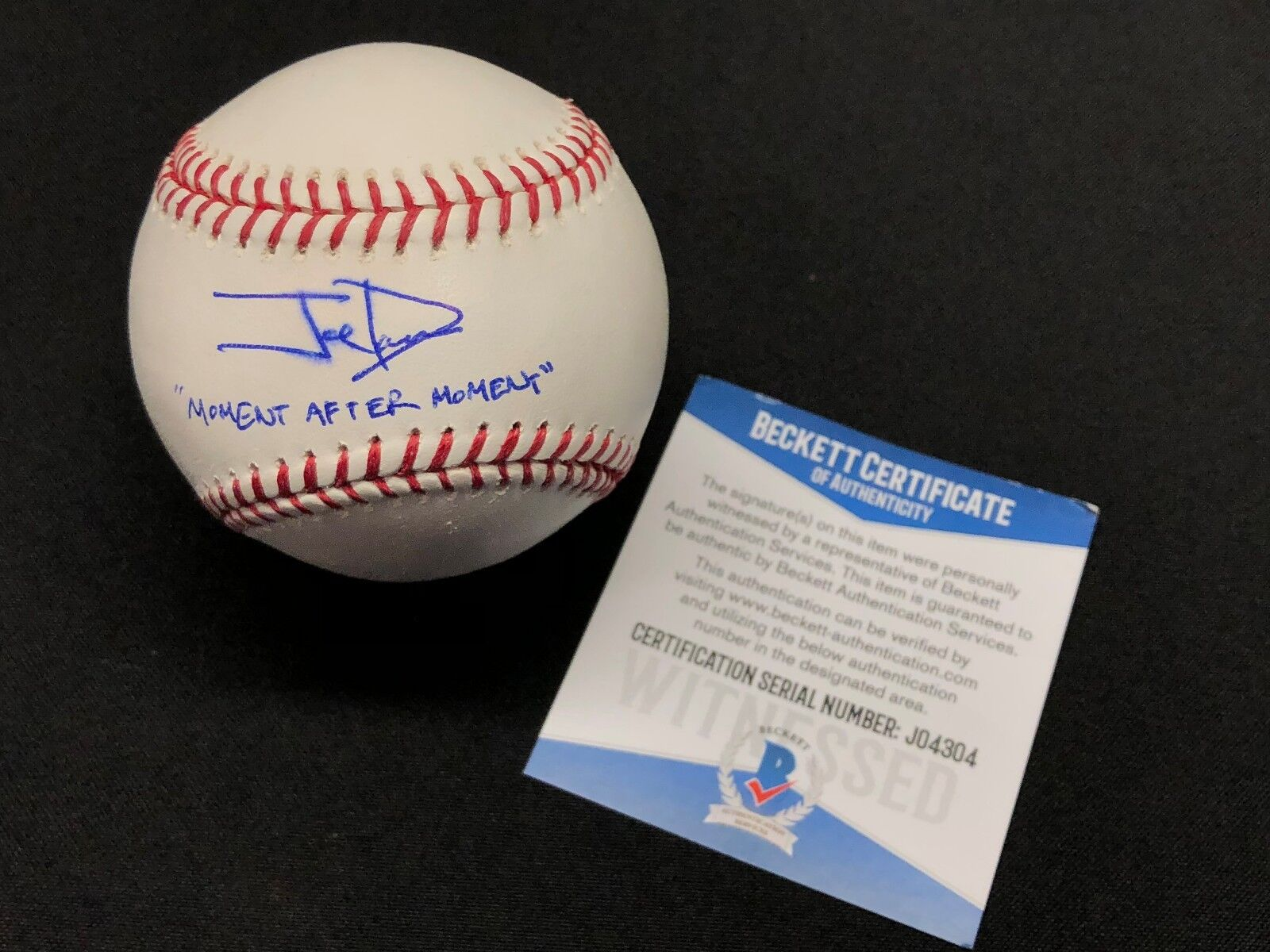 Joe Davis Signed Major League Baseball MLB