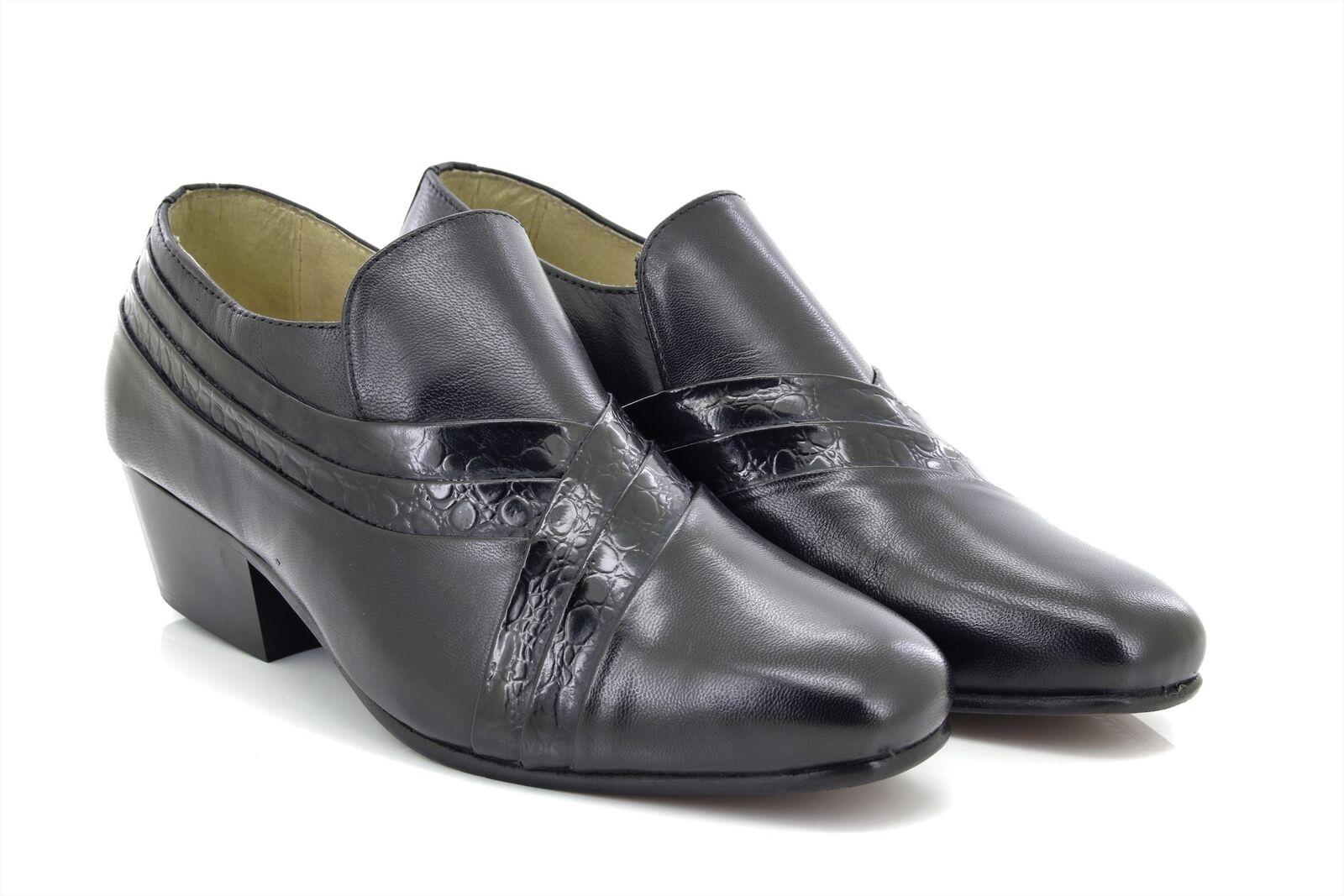 Montecatini Carl Leder Herren Weiches Leder Carl Plissiert Blockabsatz Schuhe afcb7f