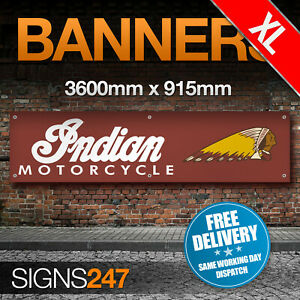 EXTRA-LARGE-Indian-Motorcycles-Motorbike-Racing-ZC284-PVC-banner-sign