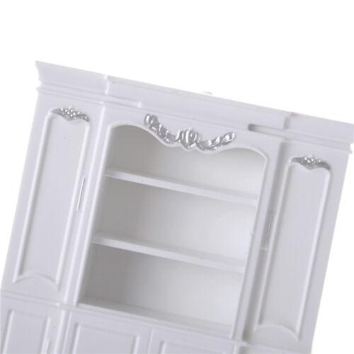 Dollhouse Miniature Furniture Decor Cabinet Shelves Bookcase Silver pattern TDCA