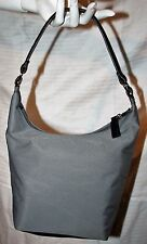 Old Navy Gray Canvas Faux Leather Strap Shoulder Bag Purse
