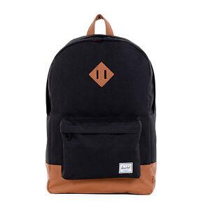 f337fb50b14 Herschel Supply Co. Company BRAND Heritage Black W  Tan 21l 21 L Backpack