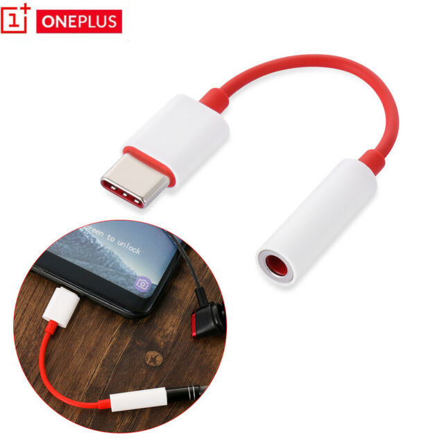 USB-C Oneplus 6T Audio Cable Type-c To 3.5mm Headphone Adapter Cord Connector