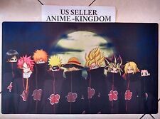 Custom Yugioh Playmat Play Mat Large Mouse Pad Akatsuki Goku, Luffy .... #372