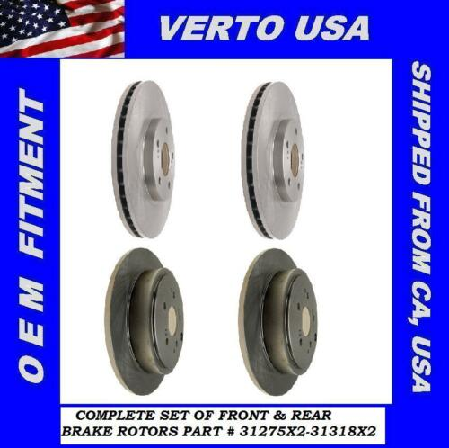 Front /& Rear Brake Rotors For Acura MDX 2001-2002-2003-2004-2005-2006