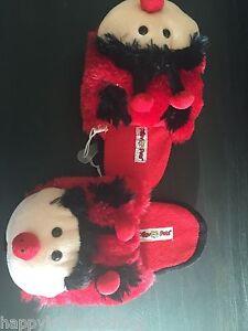 MY-PILLOW-PETS-LADYBUG-size-4-5-girls-SLIPPERS-PLUSH-NEW-LADY-BUG-kid