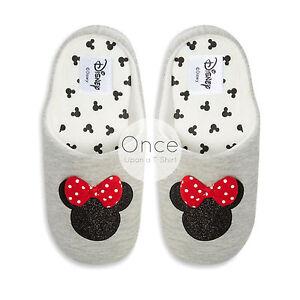 info for 2cd50 7b589 Dettagli su Primark Disney Minnie Mouse logo glitter Donna Novità Infilare  Pantofole- mostra il titolo originale