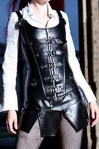 Sexy-Corsage-Korsett-Kunst-LEDER-S-M-L-XL-2XL-3XL-4XL-Clubwear