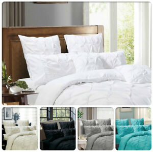 Pair-of-Diamond-Pintuck-European-Pillowcases-Standard-Queen-King-Pillow-Cases