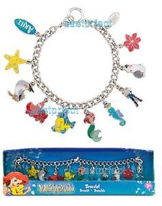 Image Is Loading Disney Ariel Little Mermaid 10 Charm Bracelet