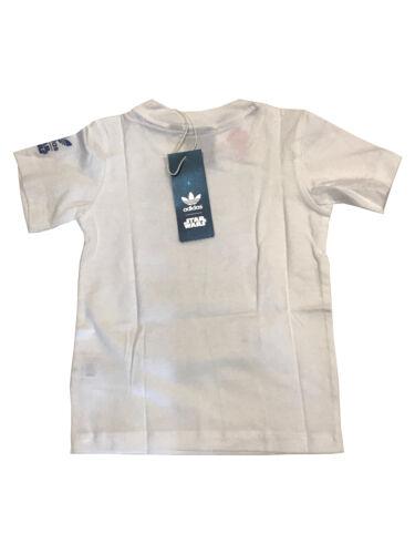 74 80 86 92 98 104 SW Archivet Kids Adidas Star Wars Kinder T-Shirt weiß Gr