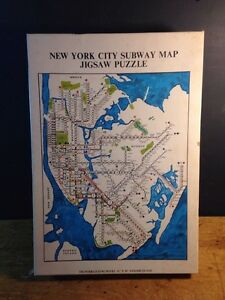 Nyc Subway Map Puzzle.Details About New York City Subway Map Puzzle 500 Vintage Complete 1971 Gameophiles